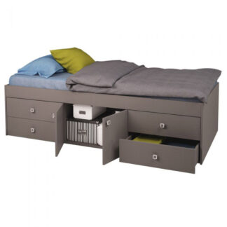 Captains Single 3ft Cabin Bed - Grey