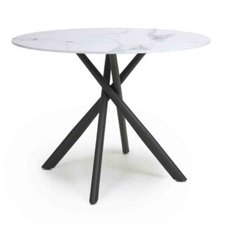 Avesta White Round Dining Table