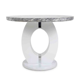 Neptune Round Marble Effect Dining Table