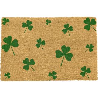 Green Shamrock Irish Doormat