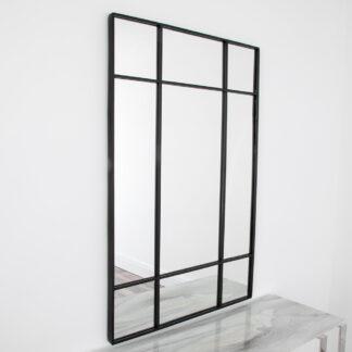Modern Pane Mirror - Black