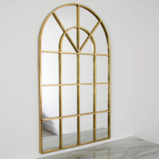 Gold Arched Rome Mirror