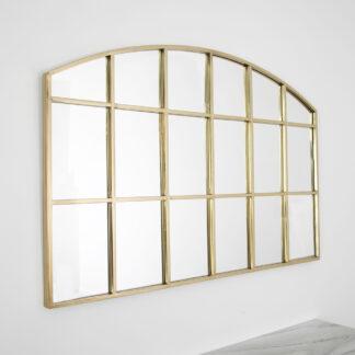 Horizontal Arch Mirror - Gold