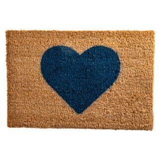 Heart Blue Doormat