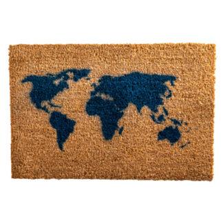Map Blue Doormat