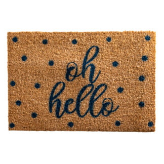 Oh Hello Blue Doormat