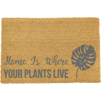 Home Is Where Your Plants Live Grey Doormat
