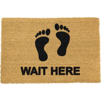 Wait Here Doormat