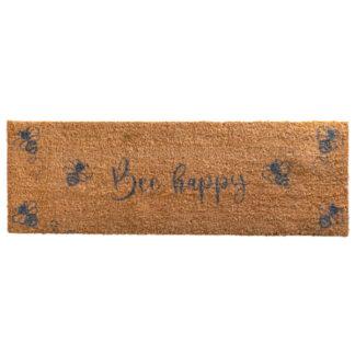 Patio Grey Bee Happy Double Doormat