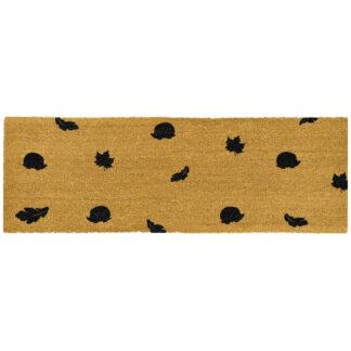 Hedgehog Autumn Leaves Patio Doormat
