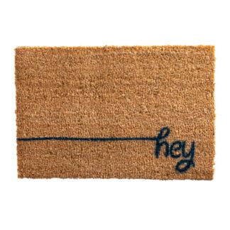 Hey Scribble Blue Doormat