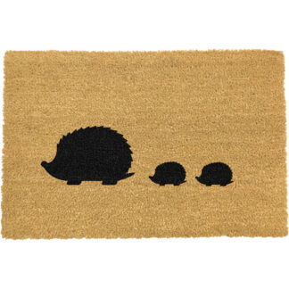 Hedgehog Family Doormat