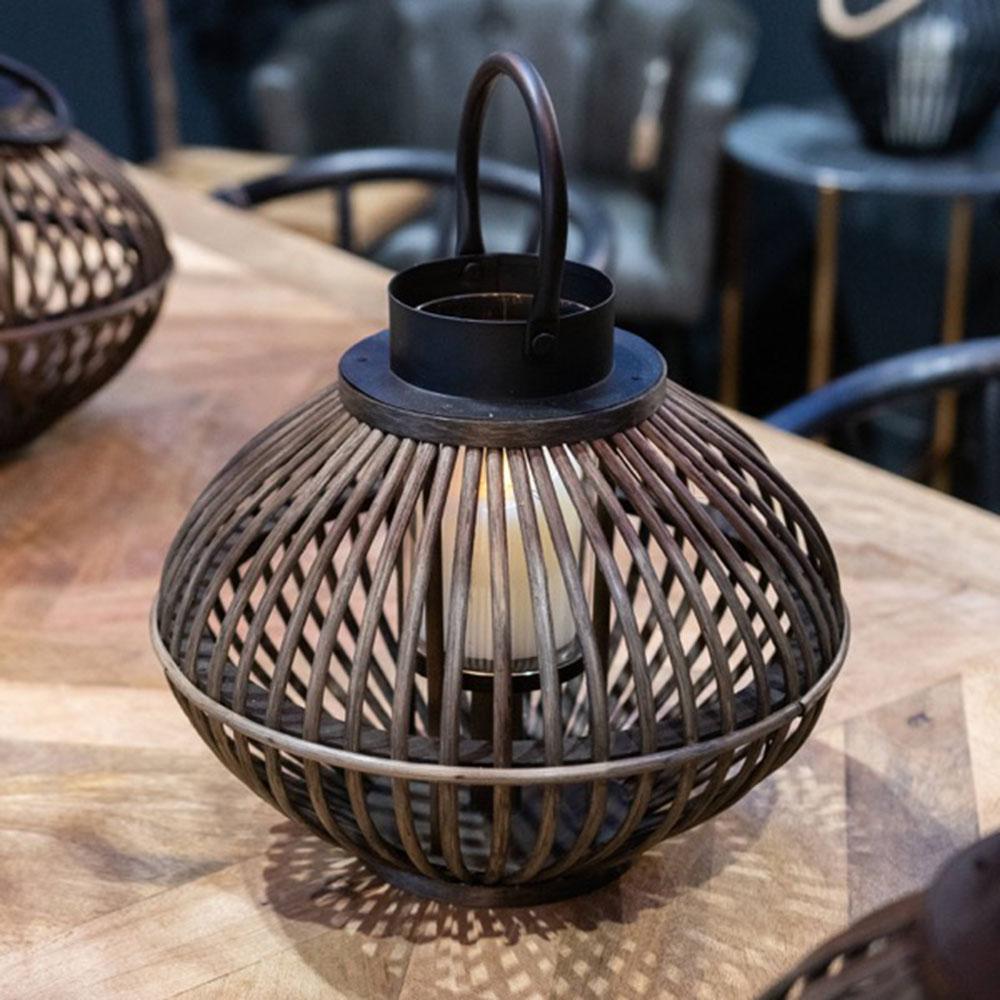 Brown Bamboo Style Large Lantern