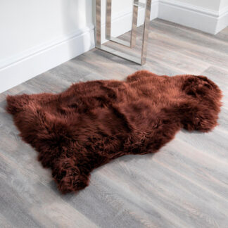 Brown Sheepskin Rug XXL